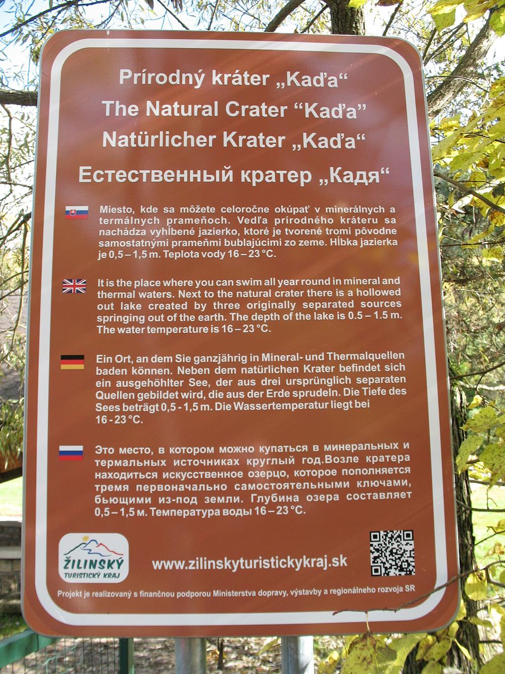 """The Natural Crater """"Kaďa"""""""